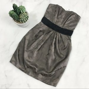 H&M Ribbed Strapless Cocktail Dress